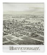 1891 Vintage Map Of Whitewright Texas Fleece Blanket