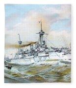 1895 - The Brandenburg Squadron At Sea - Color Fleece Blanket