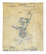 1896 Dental Chair Patent Vintage Fleece Blanket