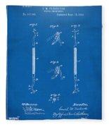 1896 Dental Excavator Patent Blueprint Fleece Blanket