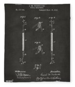 1896 Dental Excavator Patent Gray Fleece Blanket
