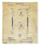 1896 Dental Excavator Patent Vintage Fleece Blanket