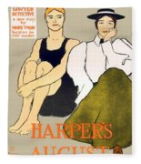 1897 - Harpers Magazine Poster - Color Fleece Blanket