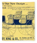 1898 - Hawley King And Company - Surrey Buggy Advertisement - Color Fleece Blanket