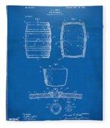 1898 Beer Keg Patent Artwork - Blueprint Fleece Blanket
