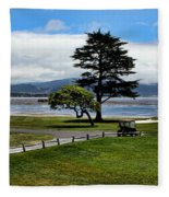 18th At Pebble Beach Panorama Fleece Blanket