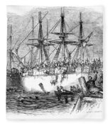 Boston Tea Party, 1773 Fleece Blanket