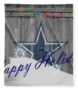 Dallas Cowboys Fleece Blanket by Joe Hamilton