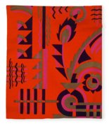 Design From Nouvelles Compositions Decoratives Fleece Blanket