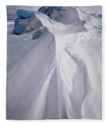 Pack Ice, Antarctica Fleece Blanket