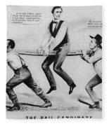 Presidential Campaign, 1860 Fleece Blanket