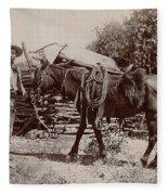 1900 Cowboy Fleece Blanket