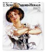 1900s 1913 Smiling German Girl Wearing Fleece Blanket