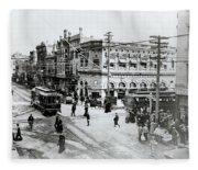 1900s Intersection Of Fair Oaks Fleece Blanket