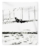 1902 Wright Brothers Glider Tests Fleece Blanket