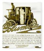 1903 - Columbia Motor Carriage Advertisement Fleece Blanket