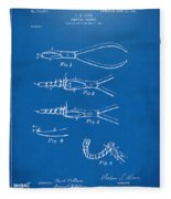 1903 Dental Pliers Patent Blueprint Fleece Blanket