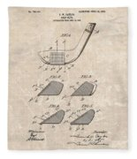 1903 Golf Club Patent Fleece Blanket