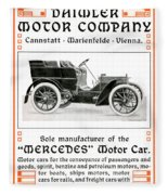 1904 - Daimler Motor Company Mercedes Advertisement - Color Fleece Blanket