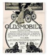 1904 - Oldsmobile Automobile Advertisement Fleece Blanket