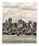 1906 Manhattan Panorama Fleece Blanket