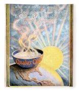 1906 - Quaker Oats Cereal Advertisement - Color Fleece Blanket