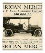 1907 - Daimler Manufacturing Company - American Mercedes Demi Limousine Automobile Advertisement Fleece Blanket