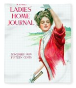 1909 - Ladies Home Journal Magazine Cover - November - Color Fleece Blanket
