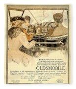 1909 - Oldsmobile Advertisement - Color Fleece Blanket