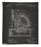 1910 Cash Register Patent Gray Fleece Blanket