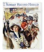1910s 1912 Cover Sunday Magazine Fleece Blanket