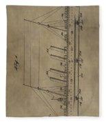 1911 Steamship Patent Fleece Blanket