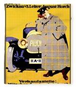 1912 - Audi Automobile Advertisement Poster - Ludwig Hohlwein - Color Fleece Blanket
