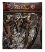 1912 Indian Board Track Racer Engine Fleece Blanket