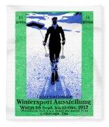 1912 Vienna Winter Sports Fleece Blanket