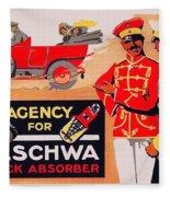 1913 - Geschwa Automobile Shock Absorber Adbertisement - Color Fleece Blanket