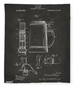 1914 Beer Stein Patent Artwork - Gray Fleece Blanket