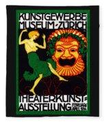 1914 Zurich Theater Arts Festival Fleece Blanket
