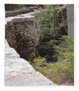 1917 Carriage Road Bridge Jordan Stream Acadia Maine Fleece Blanket