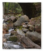 1917 Carriage Road Bridge Of Acadia Fleece Blanket