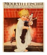 1917 - Modern Priscilla Magazine Cover - December Fleece Blanket