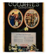 1918 - Colgate Advertisement - World War I - Color Fleece Blanket