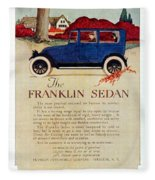1919 - Franklin Sedan Advertisement - Color Fleece Blanket