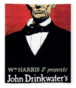 1919 - John Drinkwater's Play Abraham Lincoln Theatrical Poster - Color Fleece Blanket