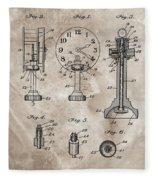 1920 Clock Patent Fleece Blanket