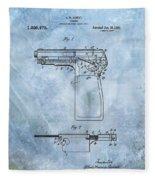 1920 Handgun Patent Fleece Blanket