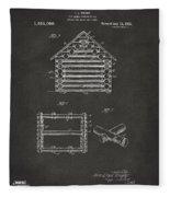 1920 Lincoln Log Cabin Patent Artwork - Gray Fleece Blanket