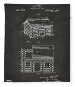 1920 Lincoln Logs Patent Artwork - Gray Fleece Blanket