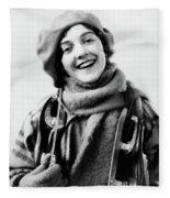 1920s 1930s Smiling Woman Dressed Fleece Blanket