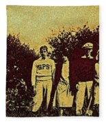 1920s Golf Fleece Blanket